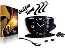 Kuchenny zegar ścienny FILIŻANKA EFEKT 3D 12KOLORY