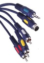 Kabel PC - TV SVHS + jack 3,5 / 3x RCA 5m (0428)