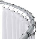 DRĄŻEK prysznicowy ŁUKOWY 140x105 POLSKI mocny alu