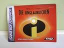 Instrukcja Die Unglaublichen GameBoy Advance