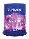 VERBATIM DVD+R 4.7 GB 100 sztuk + MARKER do OPISU