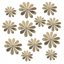 DEKOR - Kwiaty Stokrotki 3D PCV - LUSTRO + GRATIS