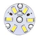 MODUŁ 6 diod LED 3W 0-11V okrągły biały zimny(3316