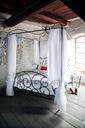 Łóżko metalowe kute Baldachim 180x200 Producent