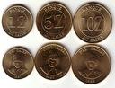 ZAIR zestaw 3 monet