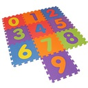 коврик пазлы пена цифры 32x32x1cm 10 ЭЛЕМ.