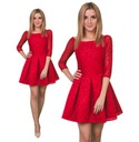 -50% PRZECENA Suknia z Koronki czerwona Roz.38