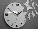 Zegar ścienny ModernClock - MOTYLE 3D BIAŁY-NOWOŚĆ Typ ścienny