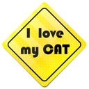 STICKER * NAKLEJKA * ODBLASKOWA I LOVE MY CAT
