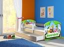 Łóżko dziecięce 160x80 szuflada materac DĄB SONOMA Długość 164 cm