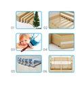Łóżko MIKO 190x80 dla dzieci piętrowe + BARIERKA Waga (z opakowaniem) 70 kg