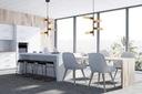 LAMPA WISZĄCA LOFT DESIGN ADALIO 4 LED od EMIBIG Kolor czarny mosiądz odcienie żółtego i złota