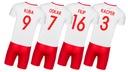 Strój piłkarski POLSKA TWÓJ NADRUK rozm 140 cm Kolor Biały