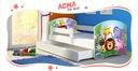 Łóżko dziecięce 180x80 szuflada materac BIAŁE ACMA Bohater inny