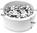 Сухой Бассейн 90x40 с мячами, шариками + 200 мячей