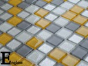 Mozaika szklana żółto szara AMARILLO ENGLASS