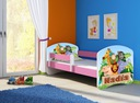 Łóżko dziecięce 160x80 + materac RÓŻOWE ACMA Długość 164 cm