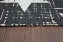 Dywan SIZAL 140x200 GWIAZDKI czarny/biały #B292 Długość 200 cm