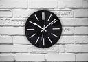 Cichy zegar ścienny Glamour połysk CZARNY 40 cm A4 Typ ścienny