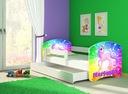 Łóżko dziecięce 140x70 szuflada materac BIAŁE ACMA Płeć Chłopcy Dziewczynki