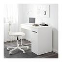 Икеа МИККЕ письменный стол с шкафчиком 105x75x50 - Белый