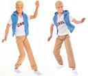 Barbie lalka gimnastyczka R + Kevin zginane ręce Materiał Plastik Tkanina
