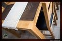 Dębowy stół rozkładany 160/85 dąb natura Materiał Drewno