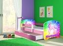 Łóżko dziecięce 160x80 szuflada materac RÓŻ ACMA Szerokość 85 cm