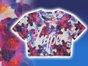 HYPE * modna BLUZKA allprint KWIATY * 140-146