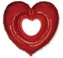 Folien Ballon Luftballons Herzen zum Valentinstag 61 cm