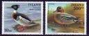 Islandia 862-863**, 1997 r., Ptaki, 15E!