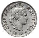 Szwajcaraia - moneta - 5 Rappen 1946