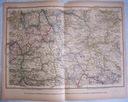 NIEMCY NUNBERG STUTTGART. Mapa kolejowa.