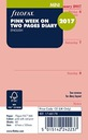 Filofax Mini Week on Two Pages in English 2017 Dia