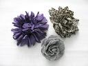 H&M 3 broszki przypinki kwiatki