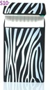 Silikonowe etui paczka papierosy SLIM Zebra black