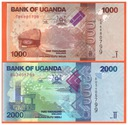 UGANDA - 1000,2000 SHILLINGS - 2017 - P-NEW -UNC