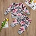 Komplet Bluza Spodnie 18m+ Kwiaty Dres