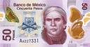 MEKSYK 50 Pesos 13.5. 2015 P-123A SERIA Q UNC
