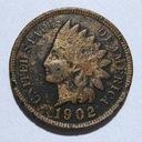 USA - Indian Head Cent 1902 r.