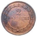 Watykan - moneta - 2 Baiocchi 1850 R - RZADKA !