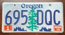 Oregon 2010 - tablica rejestracyjna USA