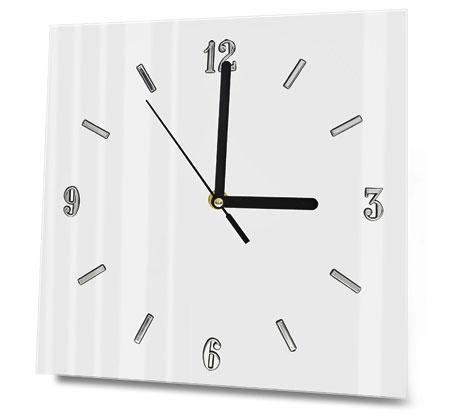 Zegar Szklany Na ścianę Biały Czarny Ikea ścienny