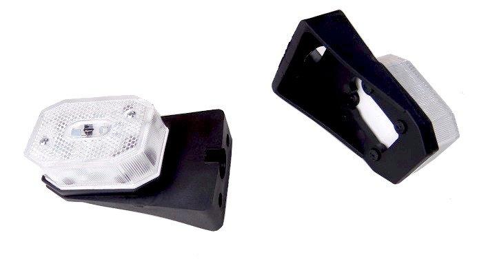LAMPY LAMPA PRZEDNIA OBRYSOWA Z ODBLASKIEM BIAŁA NA WSPORNIKU MOCNA ODSTAJĄCA FRISTOM A0054