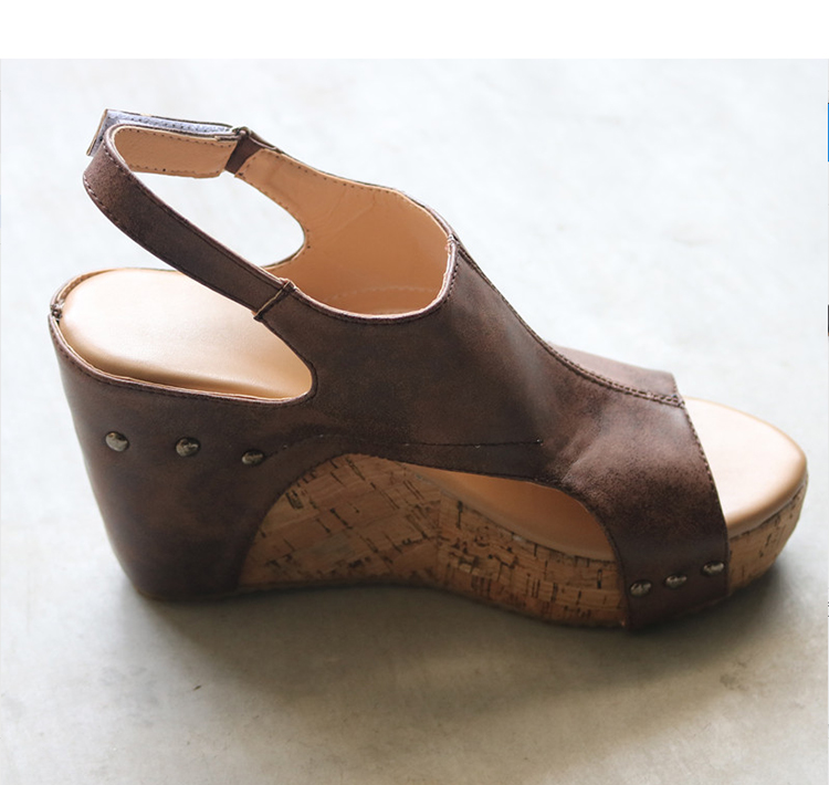 Sandały damskie NA PLATFORMIE stylowe skóra HIT 35 39