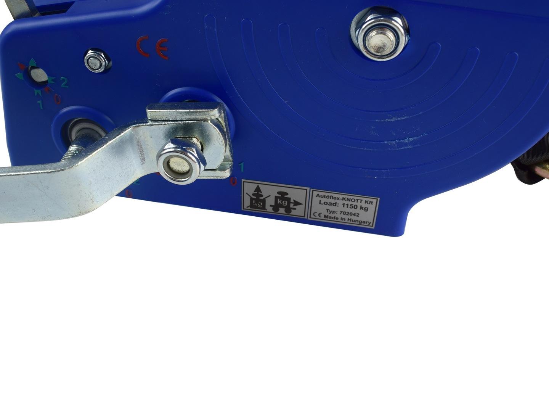 Wciągarka wyciągarka przyciągarka pasowa duża KNOTT 1150 kg z pasem 10 m  A351