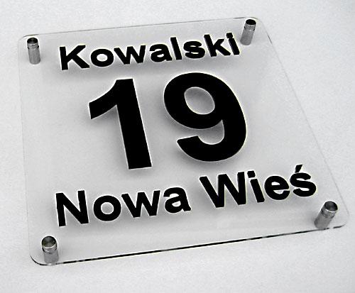 Cudowna TABLICZKA 3D Numer domu nazwisko miejscowość 6944791244 - Allegro.pl RH74
