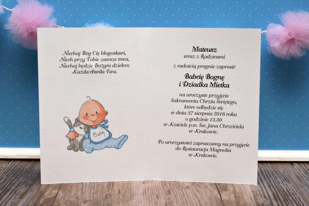 Wesołe Zaproszenia Na Chrzest Roczek Urodziny 6895542028 Allegropl