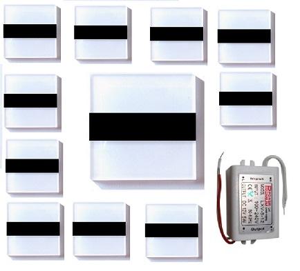 Oświetlenie Schodowe Oprawa Led 12v 60fi Czarna 11
