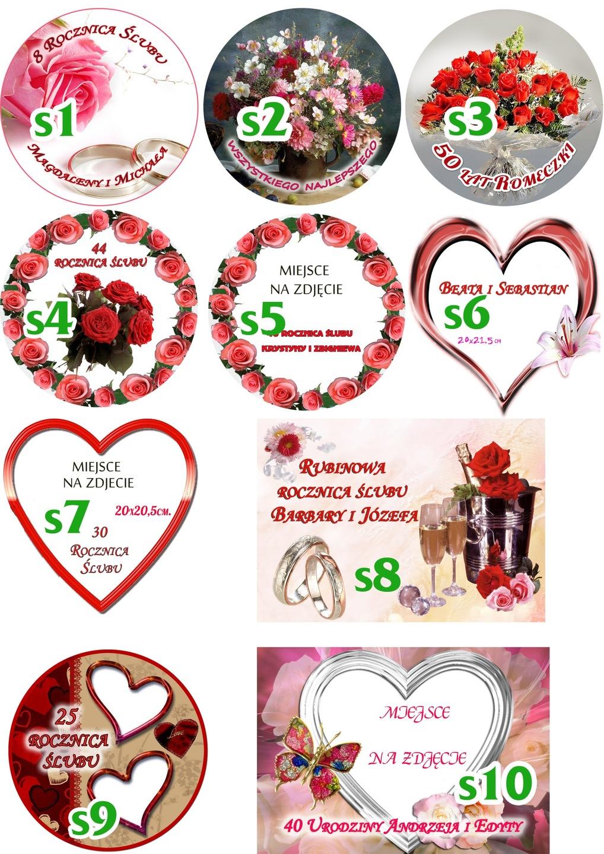Opłatki Na Tort Gruby Premium Rocznice ślubu 7060635404 Allegropl